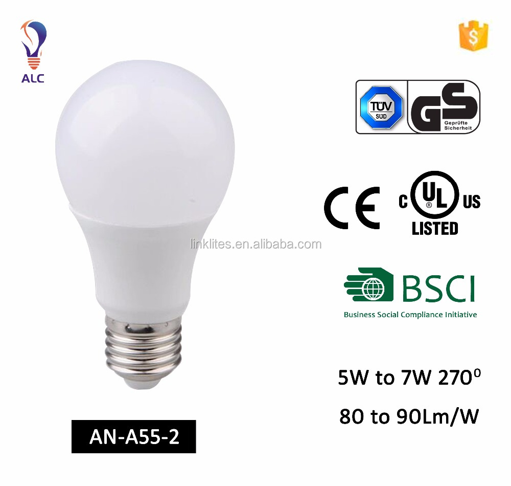 Good Quality Ce Rohs Certified Energy Saver Wholesaler Led Bulb A55 5w 7w