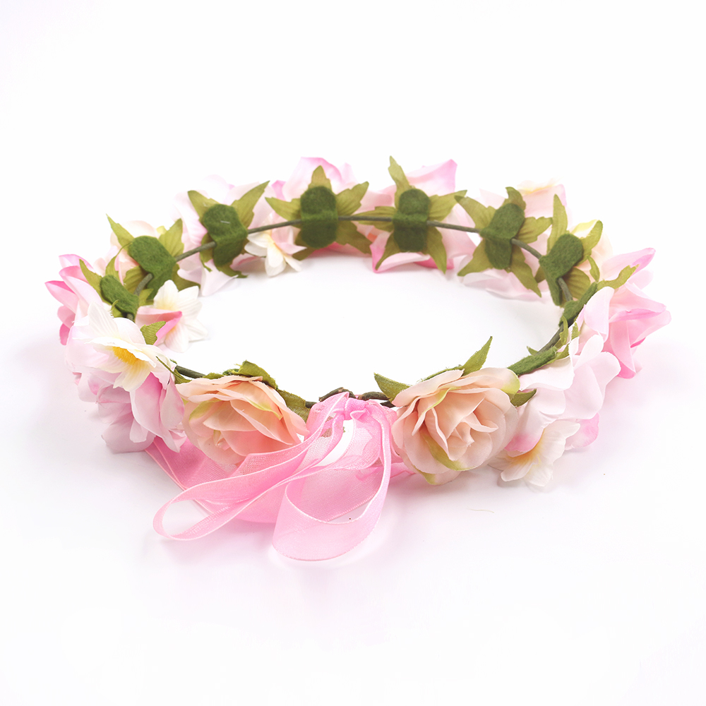 2019 factory Wholesale Handmade Artificial Wedding Flower Crown for Brides