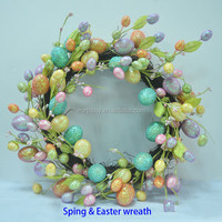 Spring and summer egg wreath Easter decoration China wholesale