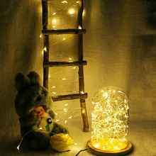 Beautiful Easter decorative low power consume led bulb solar copper wire ceiling outdoor Christmas tree lights