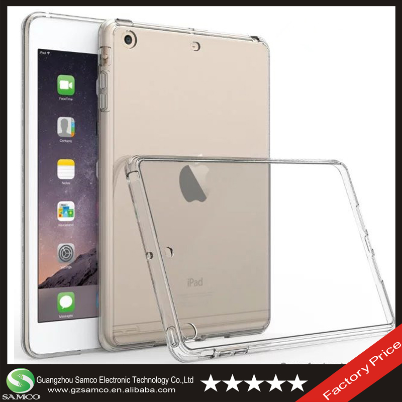 Samco Scratch Proof Ultra Slim Hybrid Crystal Clear Acrylic Back Cover Case for iPad Mini 1 2 3