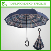 "23"" double layer straight fashion various colors reverse umbrella"