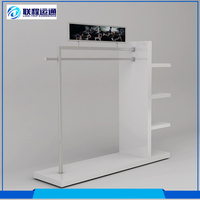 Newest design mirror polished stainless steel clothes display rack