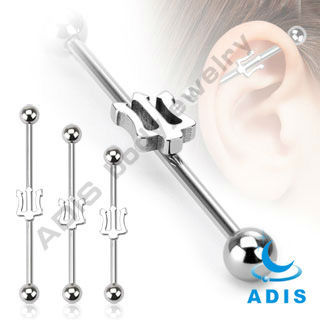 high polished surgical steel barbells industrial ear piercing