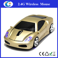 Gold 3D Car Shape 2.4G Optical Wireless Mouse Mice 1600DPI