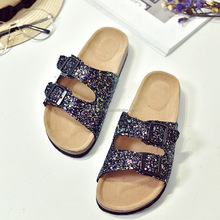 New Arrival Women Summer Sequins Beach Glitter Sandals