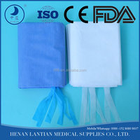 non-woven blue and white color disposable hospital bed sheet, pillow, and duvet cover