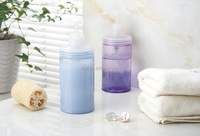 NEW 600ml round Plastic Lotion Pump Bottle Transparent Shower Gel/Shampoo Refillable Bottles Empty Container cap sprayer