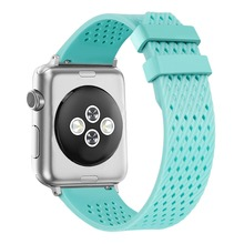 Sport Band for Apple Watch 38mm 42mm, Soft Silicone Strap Replacement Bands for iWatch Series 3, Series 2, Series 1