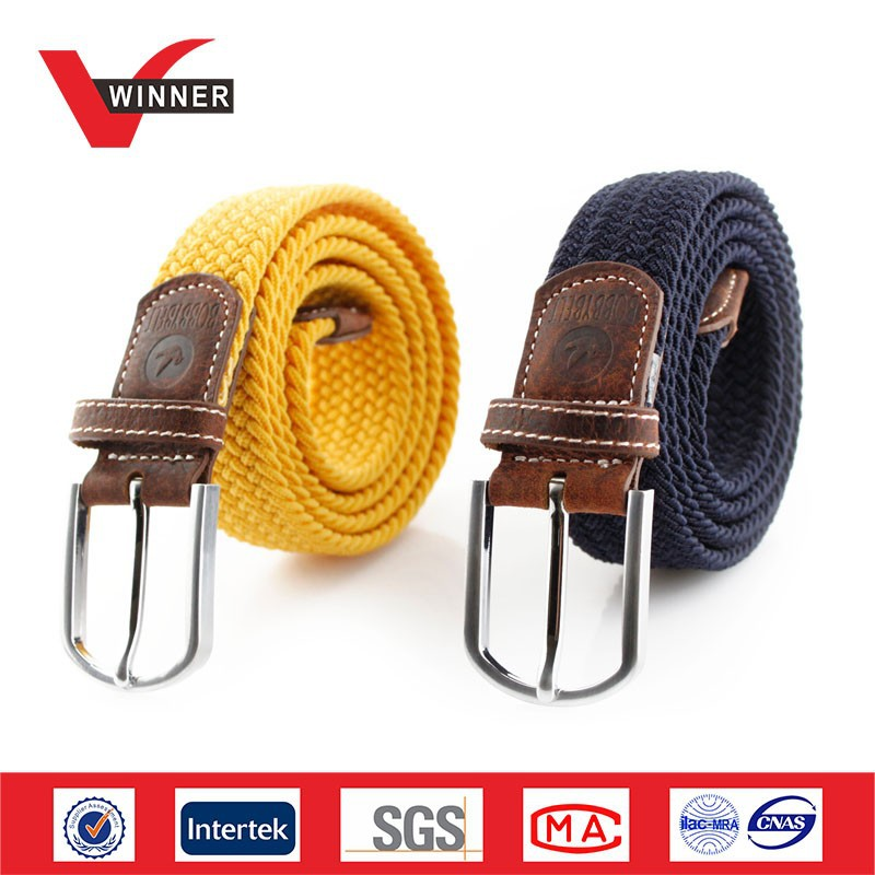 2015 High quality braided belts, belt manufacturers