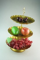 3 tiers round fruit plate /wedding cake stand colorful
