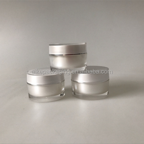 wholesale face cream 50ml transparent round acrylic jar packaging face cream packaging