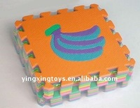 hot sell kid toys EVA fruit puzzle mat