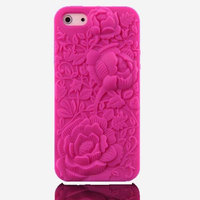 Elegant Rose Flower Silicone Soft Case Cover for apple iphone 5s