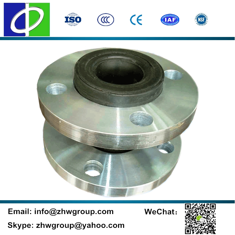 Stainless steel flange single sphere DN32 epdm rubber expansion joint
