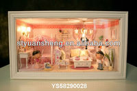 2012 top gifts for children&friend DIY doll house with mini furniture for sale