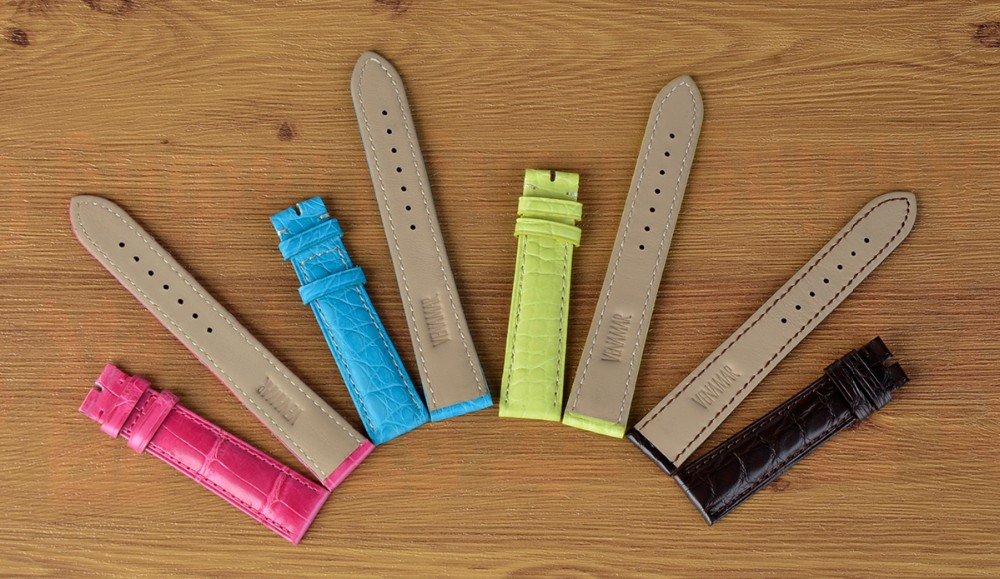 Custom logo 100% real crocodile leather watch band_6.JPG