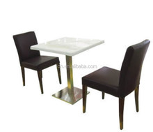 cheap price artificial restaurant marble table for UK market FOH-BCA34