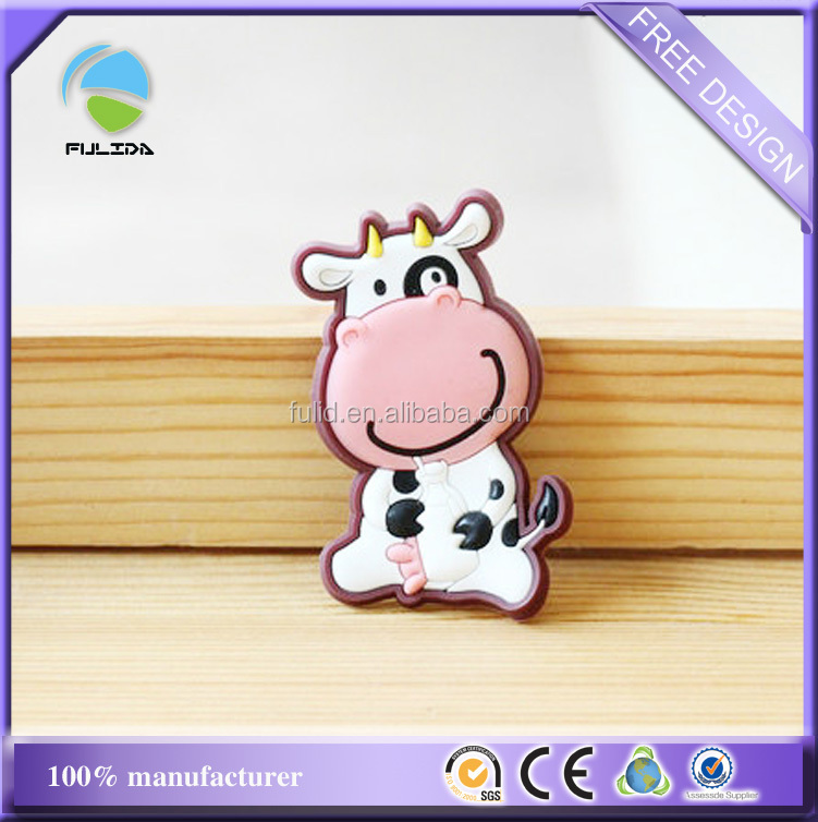 Dairy Cow Soft PVC Rubber Embossed Promotional Fridge Magnet