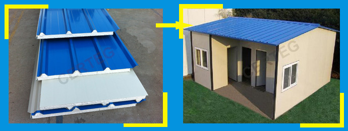 Roofing Sheets Installation Services : Easy installation best price eps sandwich panel for roof