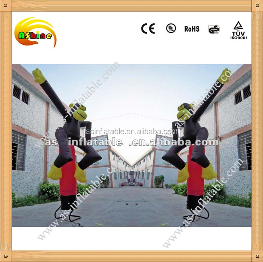 cheap mini inflatable sky air dancer costume monkey dancing man