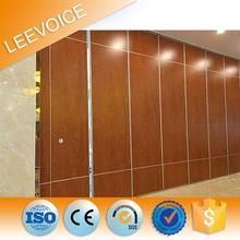 Movable soundproof partition walls in exhibition center