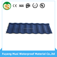 Sand stone Zinc aluminum roofing panels/stone coated roof tile effect roofing sheets