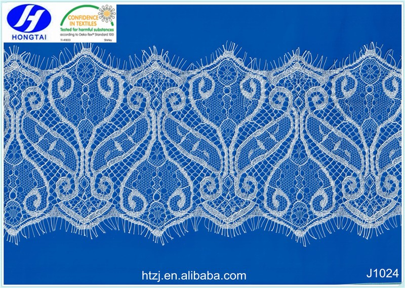 Hongtai In stock 2017 fashion new design eyelash lace trim in china