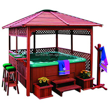 Hot Sale Outdoor Hot Tub Wood Gazebo Outdoor Spa Small Size Gazebo