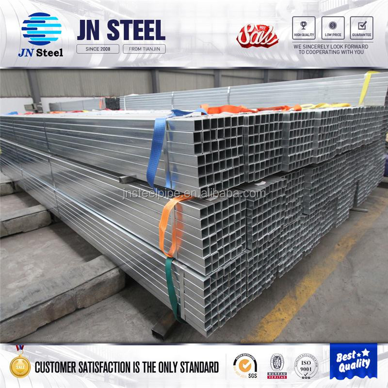 gi rectangular hollow section square Structure Galvanized steel pipe