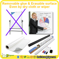 Removable self adhesive white board sticker transparent whiteboard plastic film