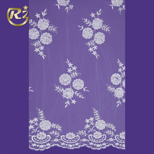 LF-23R1 Indian Embroidery Beaded Patch Product Type And Mesh Textile Voile Lace Fabric