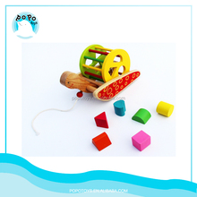 Montessori wooden intelligent toys wooden push up toy
