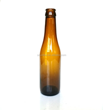 330ml amber glass Belgian beer bottle with crow cap