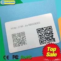 Mobile phone programmable NTAG215 SMART CARD WITH QR CODE