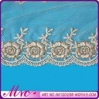 Hot Sale High Quality 100% Polyester Machine Embroidery Neck Lace Designs