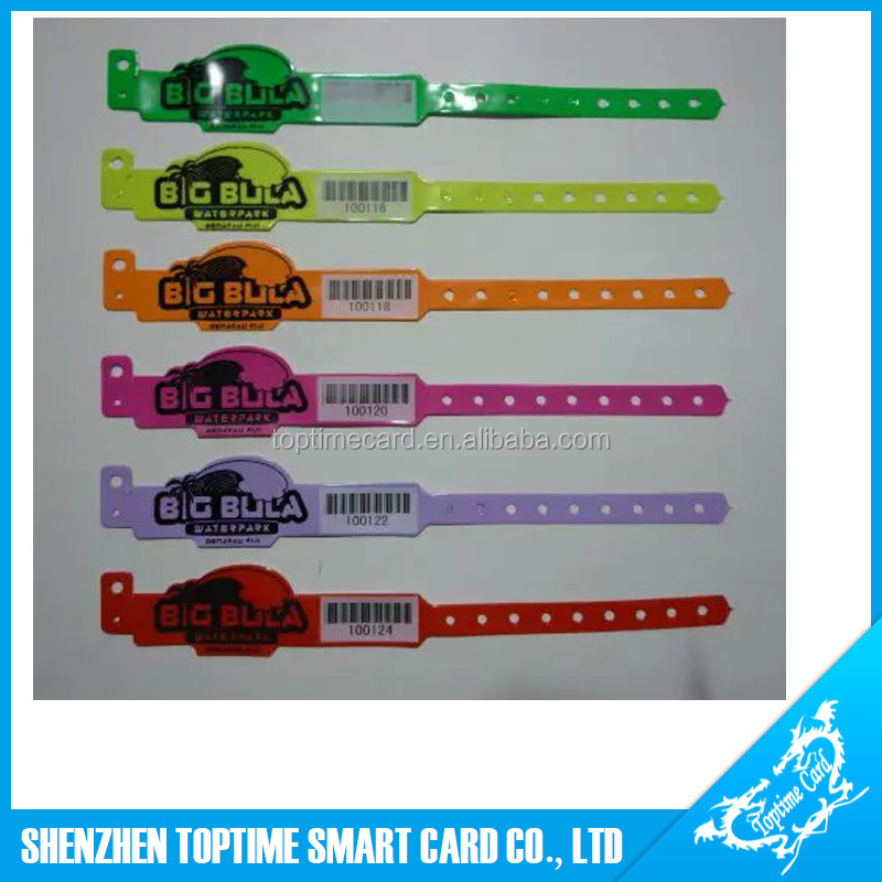one time soft PVC RFID wristband for Hospital