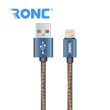 High quality jean Cloth universal data transfer cable wholesale two sided phone oem usb cable