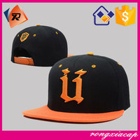 Wholesale hip-hop style high quality 6 panel custom snapback hats