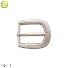 PB11 Customized pearl nickle zinc alloy metal women pin leather belt buckle 30mm