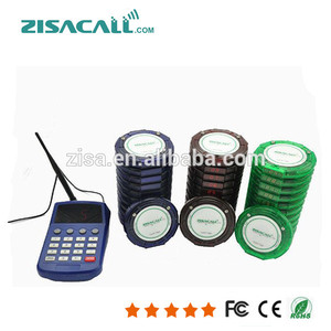 wireless queuing ordering system restaurant guests electronic paging system