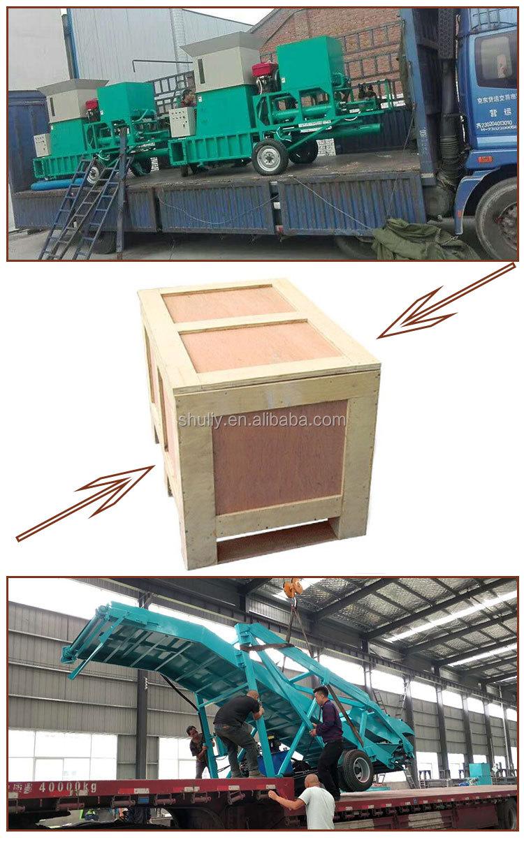 Hot sale hydraulic silage press baler corn baling machine