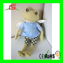 Wholesale Cute Creative embroidery stuffed green frog plush soft toys