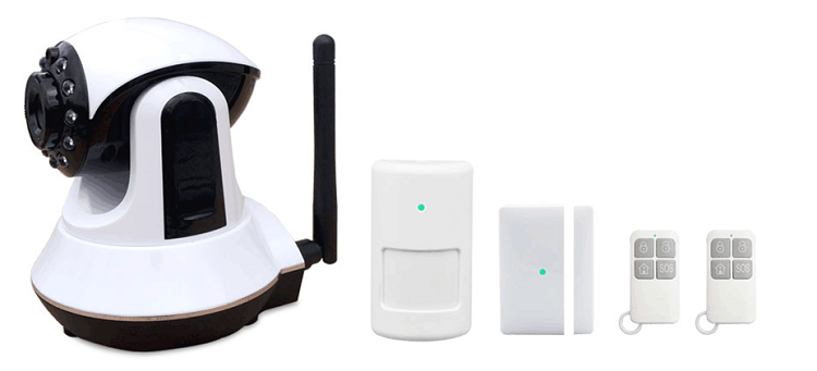 720P high definition smoke fire home security system gsm gprs wifi alarm system