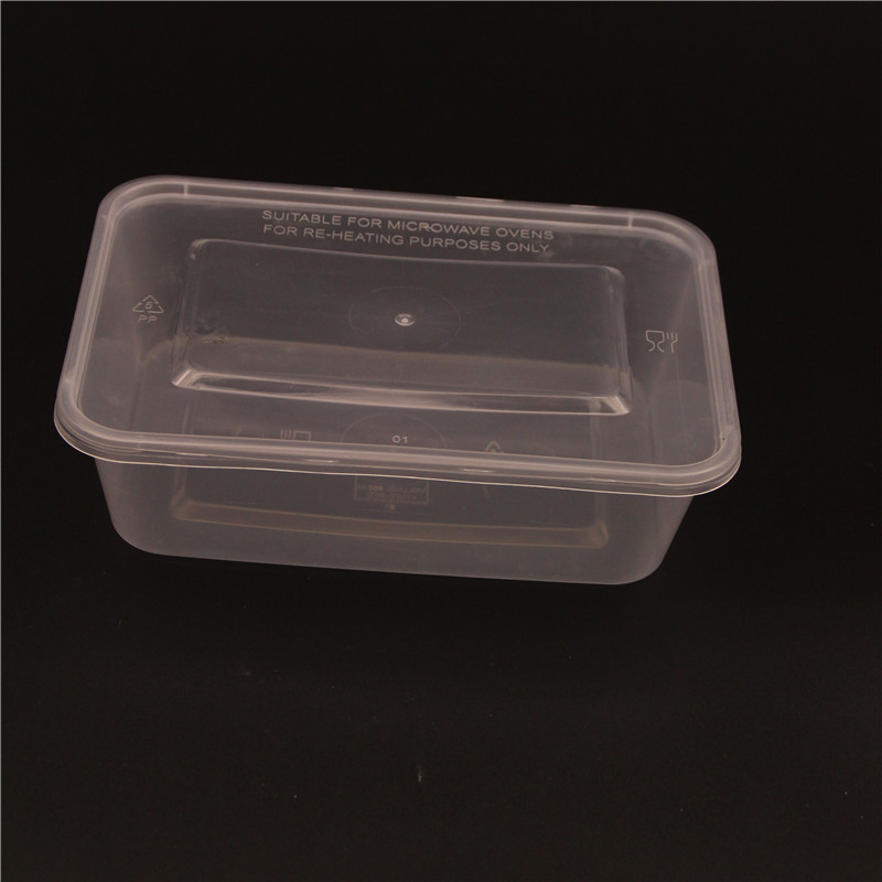 Transparent 650ml One Time Use Food Container