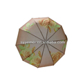 Auto Open and Close 3 Fold Umbrella pongee fabric