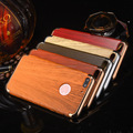 Luxury 3 in 1 Hard Plastic Electroplating Wood Pattern Case For iphone 7 7 plus Phone Back Cover Shell