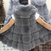 Demestic Fox Fur Vest Luxury Winter