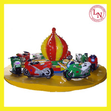 Attractive swing racing car amusement park ride racing motorcycle for sale
