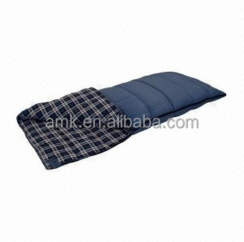 Aimika OEM hot sales Camping Sleeping Bag with check pattern flannel
